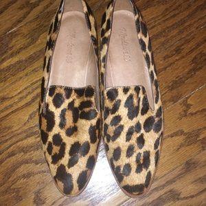 Madewell Animal Print Calf Hair Loafers